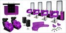 SALON ENSEMBLE PURPLE SET