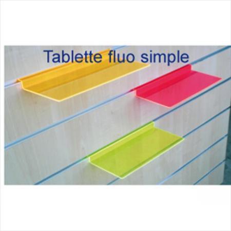 tablette fluo simple mannequin panneau rainur 1. Black Bedroom Furniture Sets. Home Design Ideas