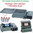 KIT COMPLET CHAUFFAGE + GAZINIÈRE + GRILL + 4 RECH