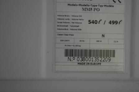 Frigo professionnel froid ventil ou statique diva 700 42000 st eti - Congelateur froid statique ou ventile ...