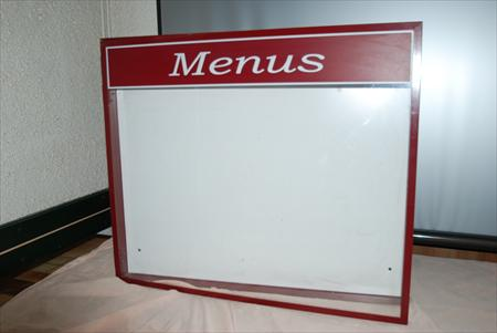 Porte menu mural ext rieur lumineux 150 86000 for Porte menu exterieur