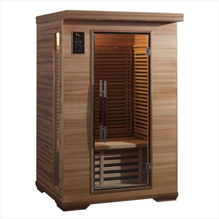 Sauna infrarouge 2 places tout quip en c dre france for Sauna exterieur occasion