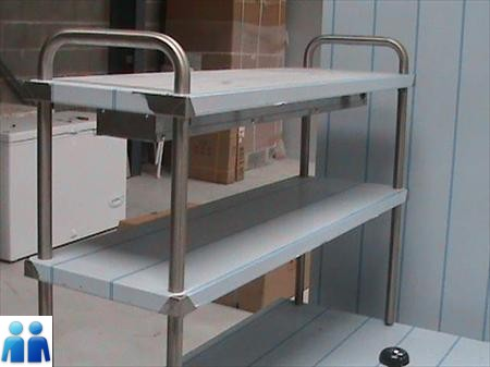etagere inox a poser sur table 176 49700 ambillou. Black Bedroom Furniture Sets. Home Design Ideas