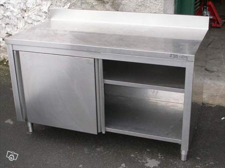 Meuble inox table de travail tout inox ref 239 05 380 for Achat de meuble occasion