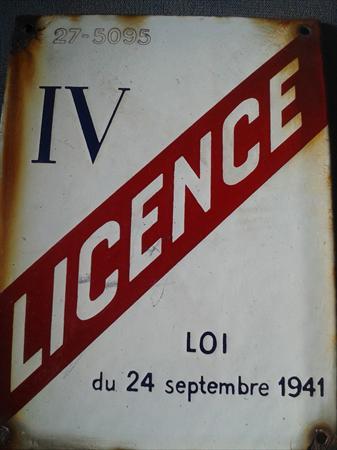 Plaque licence iv 1 27000 evreux eure haute - Licence 4 prix ...
