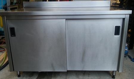meuble bas inox 2 portes coulissantes 1m40 290 35120 cherrueix ille et vilaine bretagne. Black Bedroom Furniture Sets. Home Design Ideas
