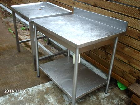 Tables inox 900 x 700 et 800 x 700 sud inox 430 for Table 430 52