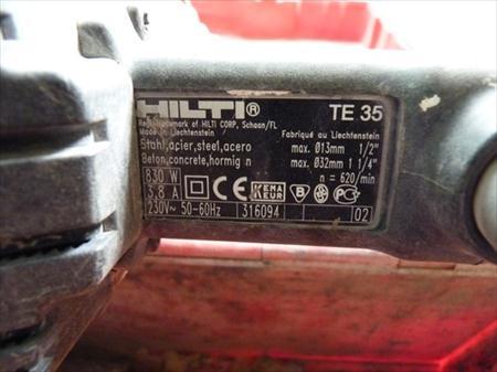 Perforateur burineur hilti te 35 hilti 5574 pondr me nord pas de calais - Perforateur hilti te 6 s prix ...