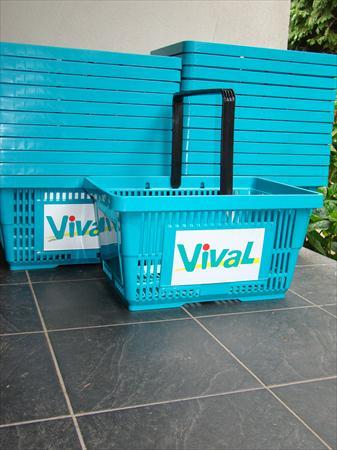 panier libre service 28 l bleu vival tat neuf 40 56100 lorient morbihan bretagne. Black Bedroom Furniture Sets. Home Design Ideas