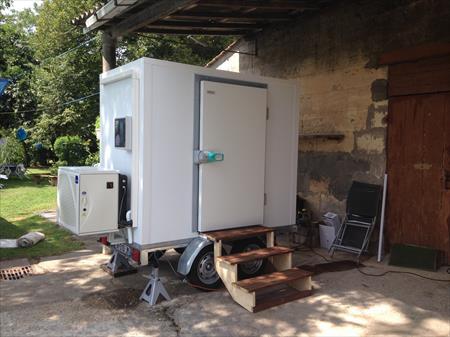 Remorques utilitaires frigorifiques en france belgique for Remorque chambre froide