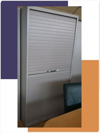 mobilier de bureau armoire haute rideaux vertical 130