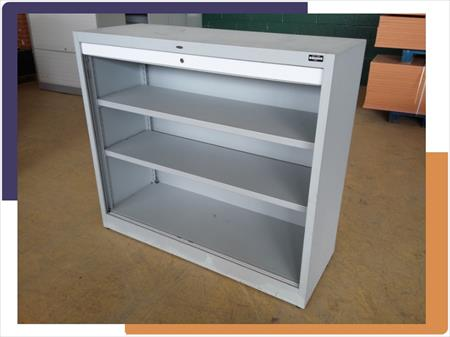 mobilier de bureau armoire basse m tal rideaux 125