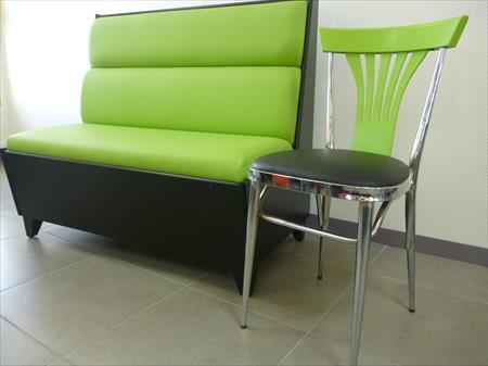 banquette et chaise pour restaurant et caf et bar 259. Black Bedroom Furniture Sets. Home Design Ideas
