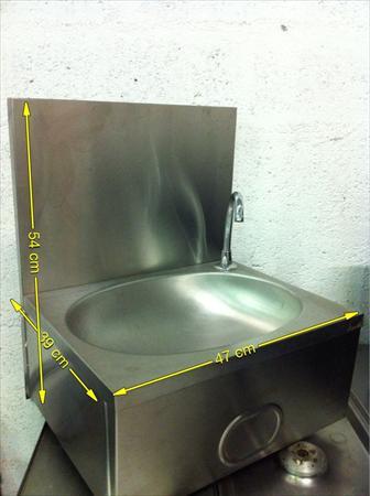 Lave main inox commande f morale 130 56100 - Commande femorale pour lave main ...