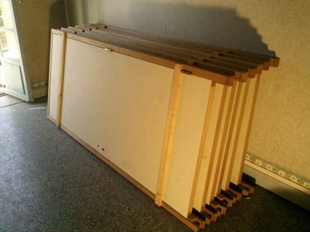 Lot de 6 portes pali res bois blanches 400 06000 for Chassis fenetre occasion