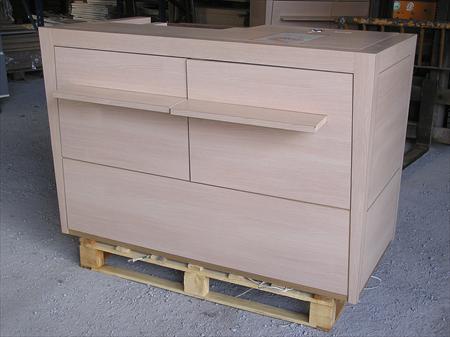 cy4 comptoir caisse d 39 acceuil en bois ton rable 350. Black Bedroom Furniture Sets. Home Design Ideas