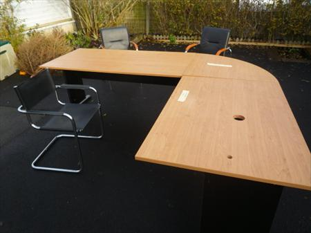 grand bureau d 39 angle 2 x 2 4 m r versible 110 14540. Black Bedroom Furniture Sets. Home Design Ideas