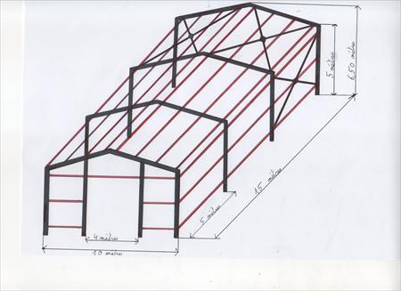 charpente metallique 150 m carre 5500 56350 saint. Black Bedroom Furniture Sets. Home Design Ideas