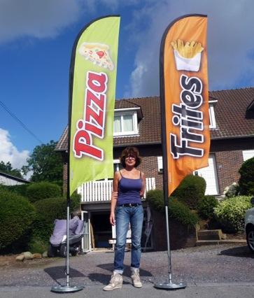 Drapeaux publicitaires snack frites pizza etc youkouk for Drapeau publicitaire exterieur pas cher