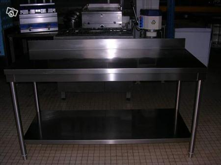 Tables inox 1600 x 700 avec dosseret en france belgique - Table inox metro ...