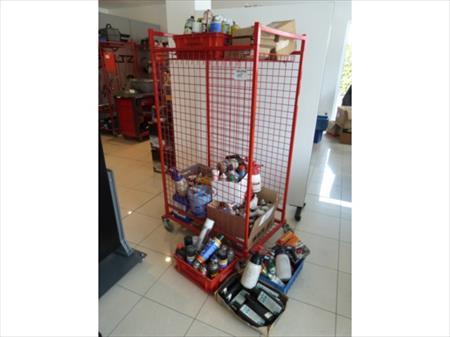 Chariot grillag et son contenu produits garage 50 for Agrandir son garage