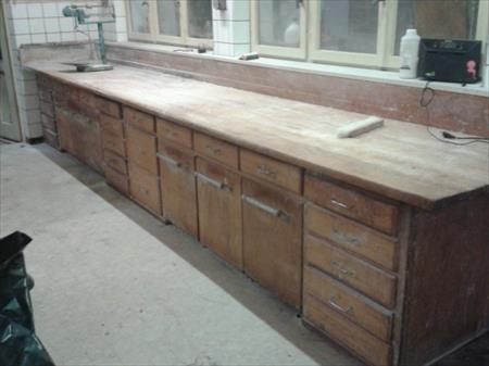 grand tablie en bois plan de travail 400 67340. Black Bedroom Furniture Sets. Home Design Ideas
