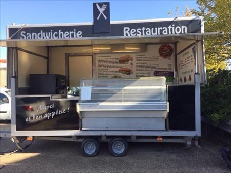 Commerce ambulant camions remorques mat riel forain en - Remorque cuisine barbot ...