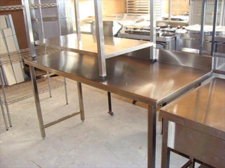 tables inox 1600 x 700 avec dosseret en france belgique pays bas luxembourg suisse espagne. Black Bedroom Furniture Sets. Home Design Ideas