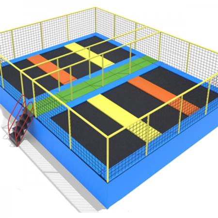Trampoline occasion simple spring free trampoline with for Trampoline piscine decathlon