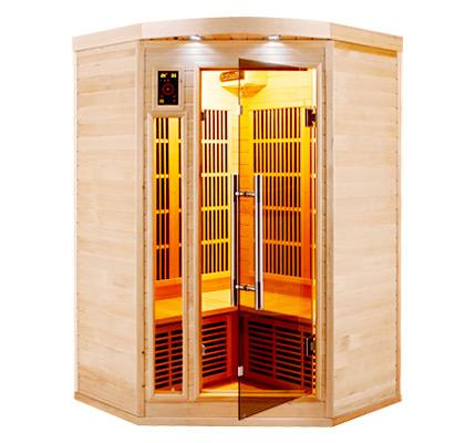 Sauna infrarouge d 39 angle apollon 2 3 places expo france for Sauna exterieur occasion