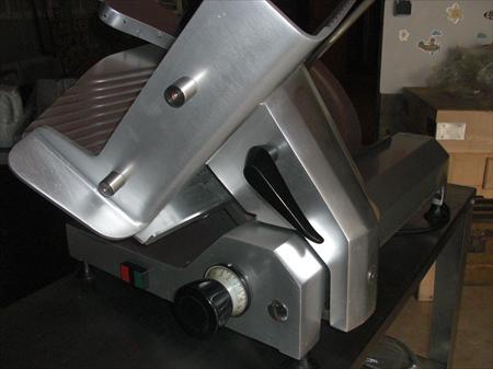 Trancheuse jambon professionnelle mathieu 500 18230 - Machine a couper le jambon manuelle ...