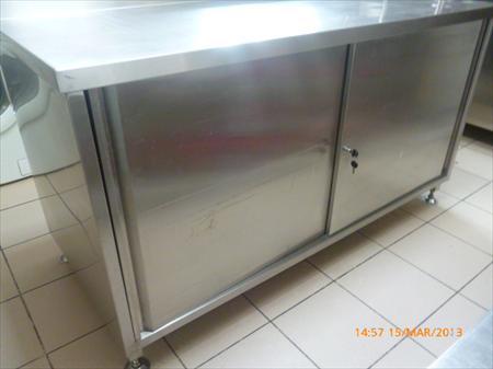 table de travail armoire avec dosseret inox 650 86100 ch tellerault vienne poitou. Black Bedroom Furniture Sets. Home Design Ideas